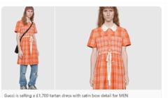 FOTO Gucci a creat o rochie pentru barbati in valoare de 1.700 de lire sterline