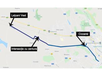 FOTO/HARTA Pe unde trece traseul Letcani - Cicoarei - Dacia ca alternativa la drumul european E58