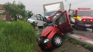 FOTO-VIDEO. ACCIDENT MORTAL pe DN 7, intre RAMNICU VALCEA si PITESTI