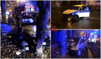 FOTO/VIDEO. Accident cu victime in Satu Mare. Impact puternic intre doua masini