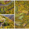 FOTO VIDEO Drumul turistic spectaculos din Apuseni complet asfaltat. Imagini din drona cu soseaua care serpuieste pe culmile muntilor