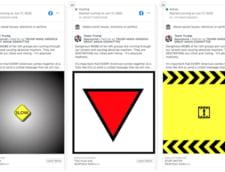 Facebook retrage mesaje publicitare ale campaniei lui Trump care contineau un triunghi rosu rasturnat, un simbol nazist