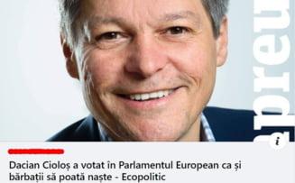 """Fake-news-ul distribuit masiv in Romania: """"Ciolos a votat pentru ca barbatii sa poata naste"""". Ce s-a intamplat de fapt in Parlamentul European"""
