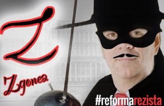 Fan-club Zgonea, pe Facebook: Martorii lui Zorro