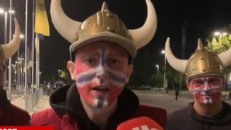 Fanii norvegieni se plang ca au fost hartuiti de copiii romani pe National Arena