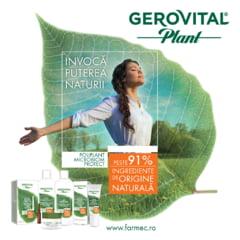 Farmec relanseaza Gerovital Plant - noua gama are ingrediente de origine naturala si ofera protectie naturala microbiana