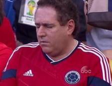 Faza incredibila la CM 2014: Cum a fost surprins un spectator la meciul Belgia - Rusia