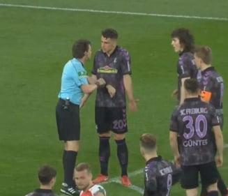 Faza zilei in fotbal: Penalti batut in pauza meciului, dupa interventia arbitrajului video