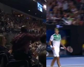 "Faza zilei la Australian Open: ""Minune"" dupa un punct castigat de Federer in fata lui Djokovici (Video)"