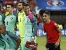 Faza zilei la EURO 2016: Un copil de mingi, langa Cristiano Ronaldo inaintea semifinalei cu Tara Galilor