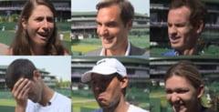 Faza zilei la Wimbledon. Jucatorii de top din ATP si WTA s-au amuzat intr-un joc inedit. Pe cine a recunoscut Simona Halep (Video)