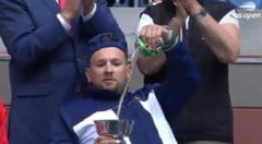 Faza zilei la finala US Open: un mare campion a băut bere din trofeu în timpul meciului! VIDEO