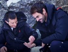 Federer, asa cum nu l-ati mai vazut: Lectie de supravietuire in Alpii elvetieni alaturi de celebrul Bear Grylls (Video)