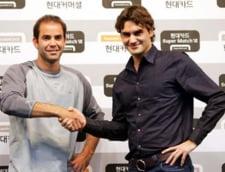 Federer l-a invins pe Sampras, intr-un meci demonstrativ