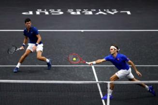 Federer si Djokovici au pierdut un meci in care au facut pereche la dublu, in competitia Laver Cup (Video)
