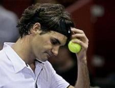 Federer si-a rupt racheta in meciul pierdut cu Djokovici (Video)