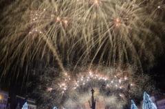 Feerie de Mica Unire. GALERIE FOTO exceptionala cu artificiile