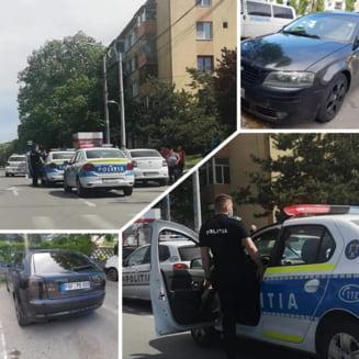 Femeie din Craiova luata de pe strada si fortata sa intre intr-o masina. Politistii au salvat-o prin geamul portierei