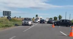 Femeie ranita in urma unui accident rutier petrecut pe E85