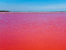 Fenomen uimitor in Franta: un lac a devenit rosu