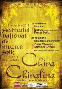 Festivalul de Folk *Chira Chiralina* a fost anulat
