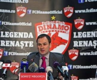 Fierbe Dinamo! Negoita recunoaste ca nu detine palmaresul