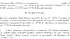 Firea vs. Basescu: Plangerea penala e redactata si va fi depusa la Parchet