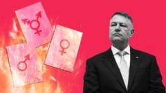 Flash-mob pentru a-i cere lui Klaus Iohannis sa nu promulge legea prin care se interzice in scoli si universitati orice referire la identitatea de gen