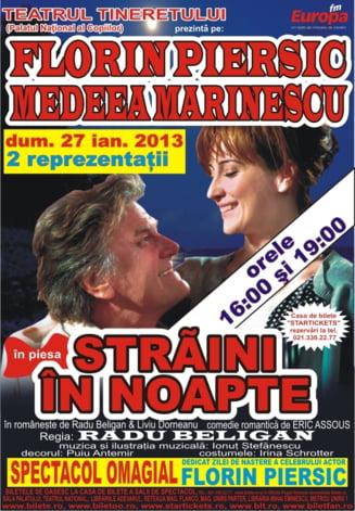 Florin Piersic, pe scena de ziua lui, cu Medeea Marinescu