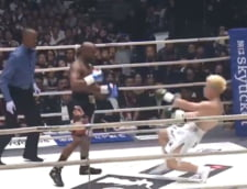 Floyd Mayweather a revenit in ring cu o victorie spectaculoasa: Adversarul a inceput sa planga (Video)