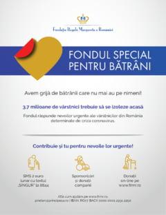 Fondul Special pentru Batrani raspunde nevoilor urgente ale celor care nu mai au pe nimeni