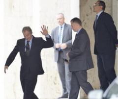 Fostul premier britanic Tony Blair, la Palatul Victoria pentru o discutie cu Ponta