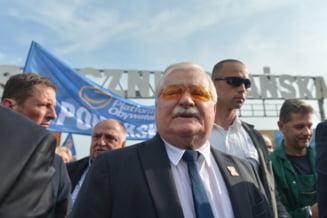 Fostul presedinte Lech Walesa se alatura protestatarilor din Polonia care lupta impotriva reformei Justitiei