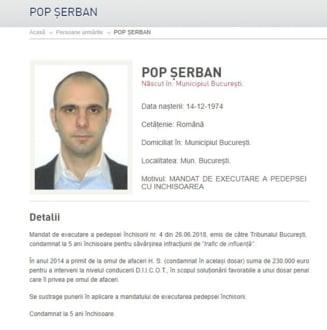 Fostul sef ANAF Serban Pop, condamnat in dosarul Alinei Bica, a fost dat in urmarire generala