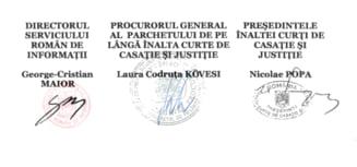 Fostul sef al Inaltei Curti sustine ca nu a semnat protocolul cu SRI. Tarcea l-a chemat sa clarifice situatia