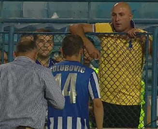 Fotbalist din Liga 1, aproape sa ia la bataie un suporter