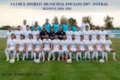 Foto | Lotul echipei de fotbal a CSM Focsani 2007 participanta la Campionatul National al Ligii a III-a, editia 2020-2021