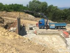 Fotografie trimisa de Aktor pentru a demonstra ca lucreaza pe Lotul II al Autostrazii Sebes-Turda