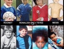 Fotografii de colectie: Cum aratau Messi, Ronaldo sau Beckham in copilarie
