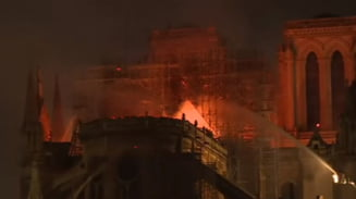 Franta este in stare de soc: Catedrala Notre-Dame din Paris, devastata de un incendiu ''teribil''