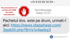 """Frauda prin SMS: ce trebuie sa faceti daca primiti un mesaj in care vi se spune """"coletul este pe drum"""" desi nu ati comandat nimic"""