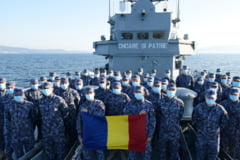 "Fregata ""Regina Maria"", la bordul careia se afla 110 marinari infectati cu COVID-19, a ajuns in Portul Constanta"