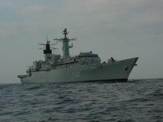 """Fregata """"Regina Maria"""" participa la cautarea persoanei disparute in urma scufundarii unei nave in Marea Neagra"""