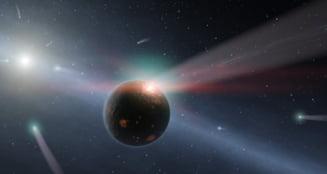Furtuna de comete in Eta Corvi - istoria in oglinda a propriului nostru sistem solar