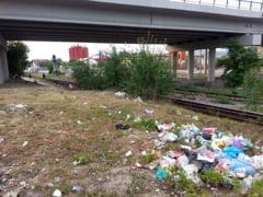 GALERIE FOTO - Cum se vede viaductul Vasile Aaron, cea mai mare investitie recenta a primariei, dintre gunoaie