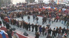 GALERIE FOTO: Hora Unirii de la Focsani a deschis seria manifestarilor dedicate Centenarului Marii Uniri