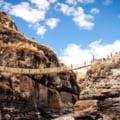 GALERIE FOTO In cateva zile, in Peru a fost construit un pod suspendat printr-o tehnica veche de sute de ani