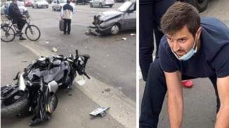 Gabriel Mihai, fost pompier militar, a salvat viata unui motociclist spulberat de o Dacie