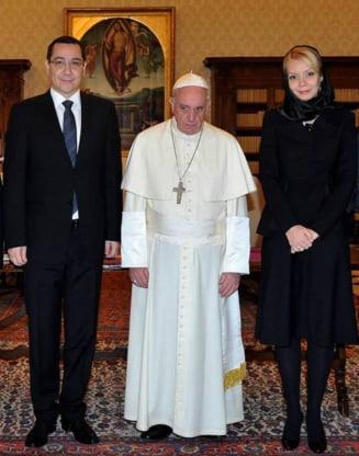 Gafa comisa de Victor Ponta la intalnirea cu Papa Francisc
