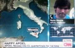 Gafa de proportii: CNN a mutat-o pe APOEL in Italia